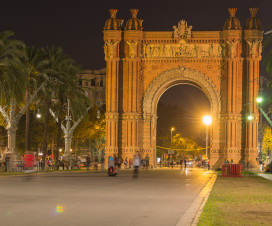 Arc de Triomf Barcelona bei Nacht