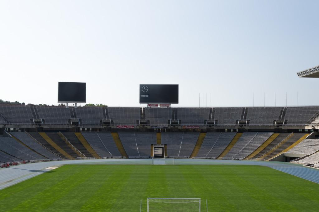 Innenansicht Olympiastadion Barcelona