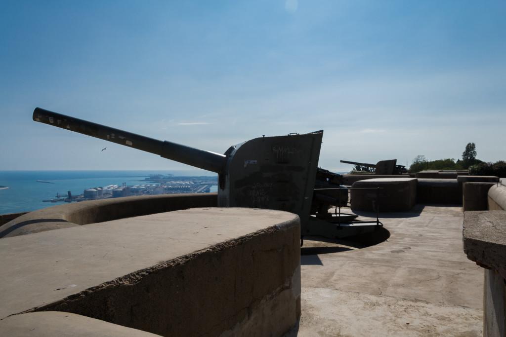 Montjuïc Castle Geschütze