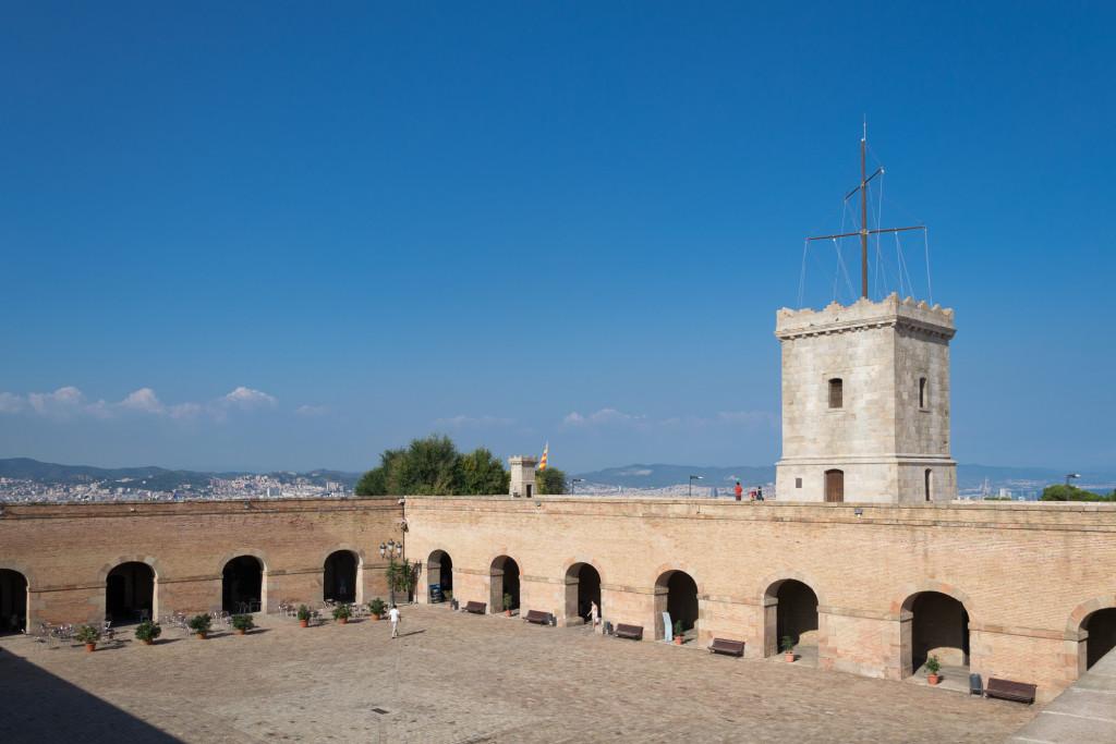 Innenhof von Montjuïc Castle