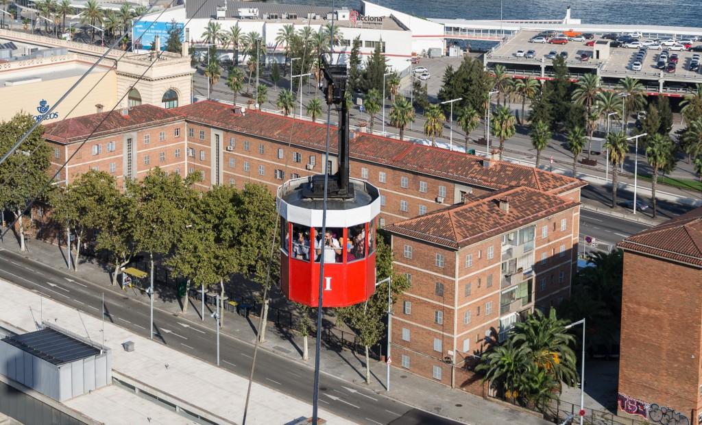 Alte Seilbahn - sehr interessant im Stehen über Barcelona
