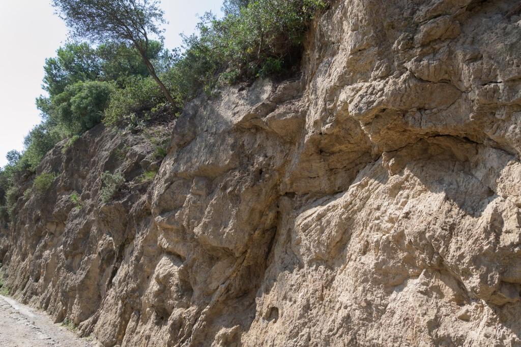 Park Güel - naturbelassener Fels