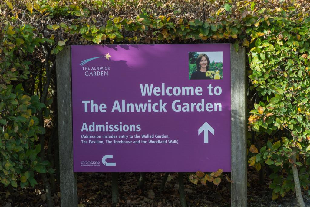 Welcome Schild für Alnwick Castle