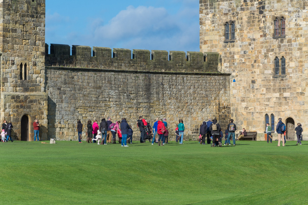 Broomstick Training auf Alnwick Castle