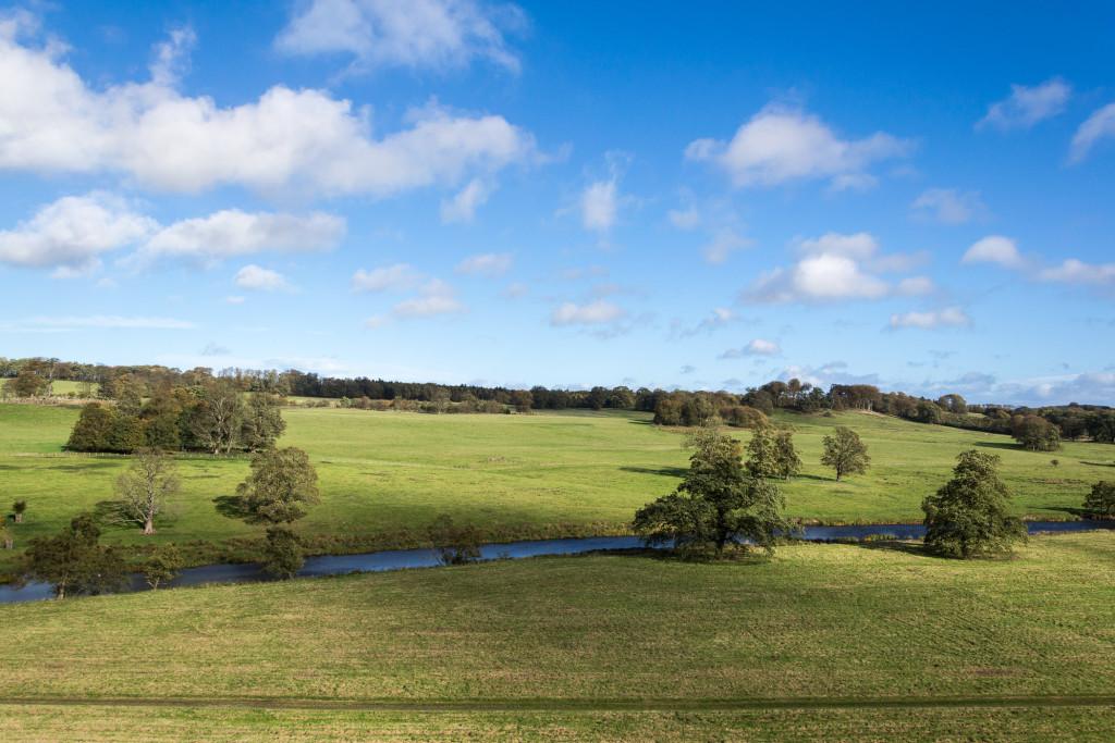 Landschaft bei Alnwick in Nordengland