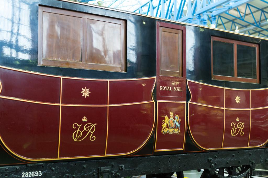 Alter Royal Mail Post Wagen von Außen