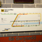 Tyne and Wear Metro Sign im Museum