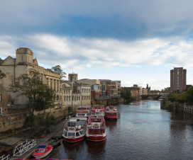 River Ouse mit Blick auf York
