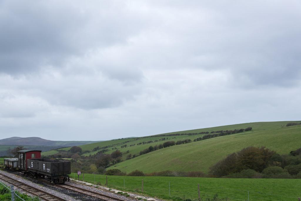 Blick über Southern Railway und Landschaft