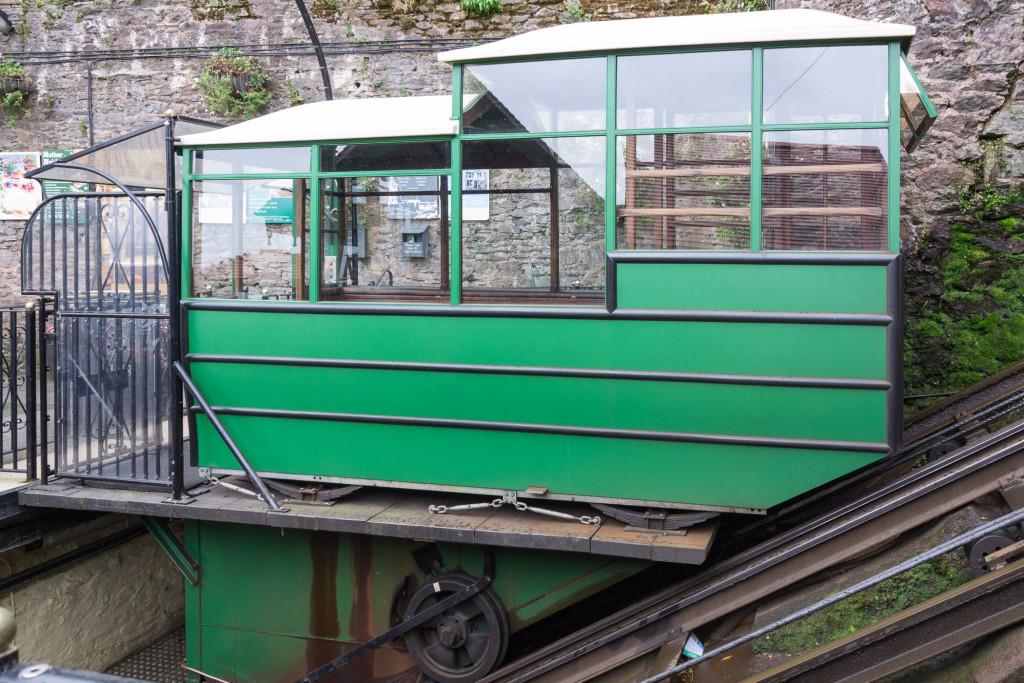 Passagierwagen der Lynton & Lynmouth Cliff Railway