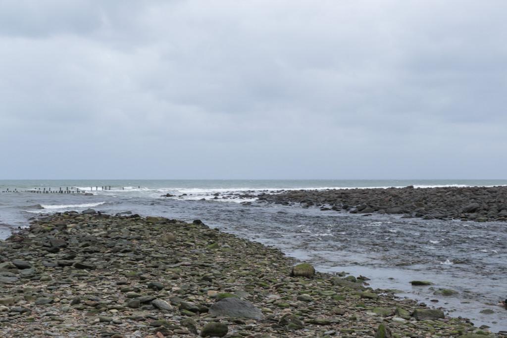 Nach der Ebbe ist vor der Flut, das Wasser in Lynmouth kommt wieder zurück