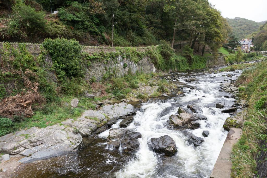 Das Wasser kommt den Berg runter - Lynmouth