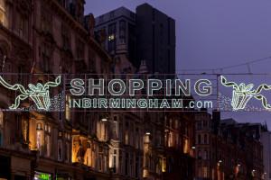 Weihnachtszeit in Birmingham ist Shoppingzeit