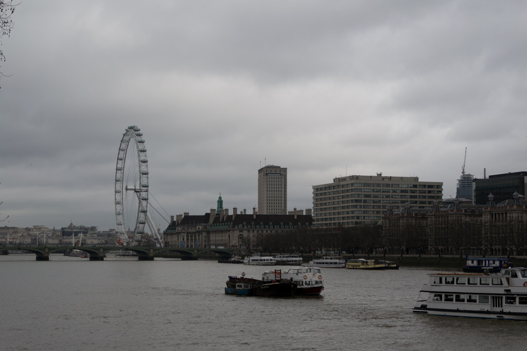 Themse mit London Eye