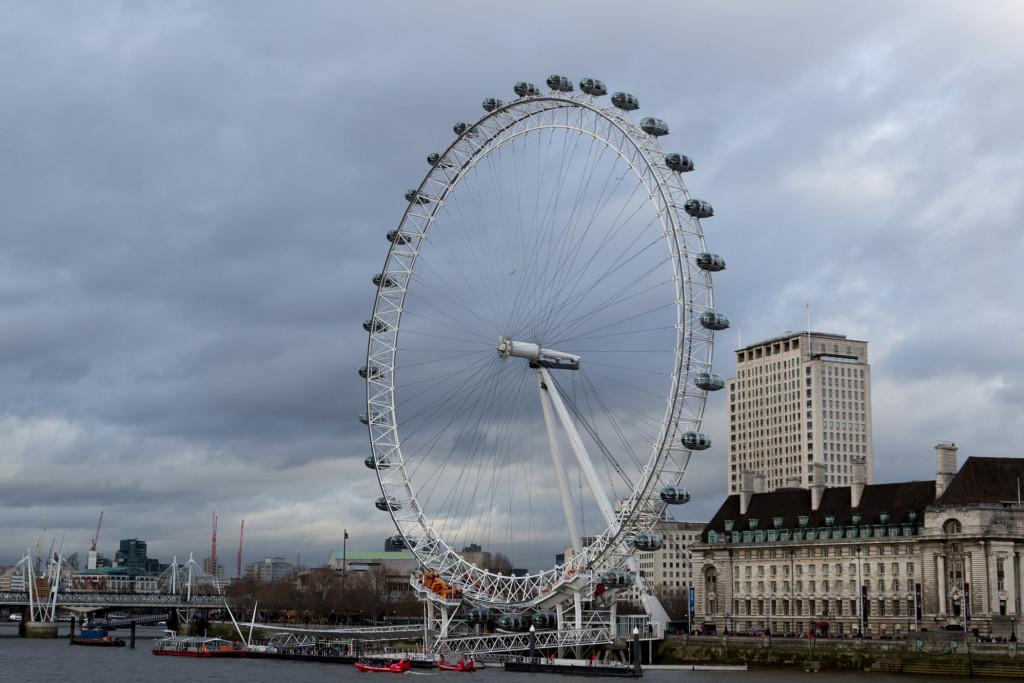 London Eye - es dreht sich ganz langsam