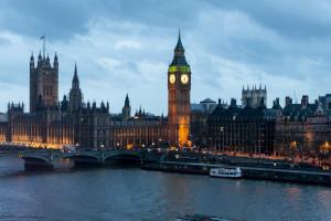 Big Ben bei Nacht vom London Eye aus