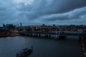Themse bei Nacht vom London Eye aus