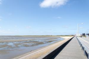 Blick vom Damm auf Havneby