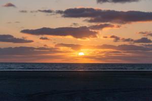 Sonnenuntergang am Südstrand Rømø