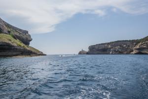 Wunderschöne Hafeneinfahrt von Bonifacio