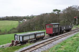 Schmalspur Dampflokomotive Südengland
