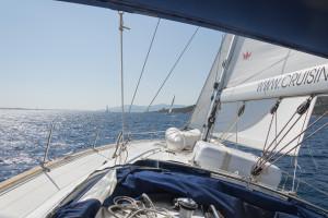 Segelausflug - Segelyacht im Wind