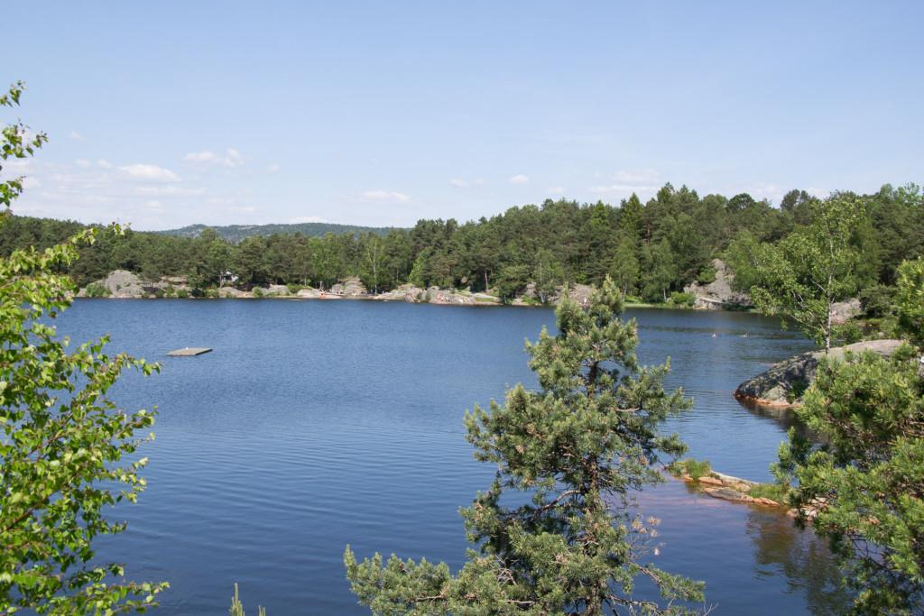 Seen in Norwegen - schwimmen erlaubt!