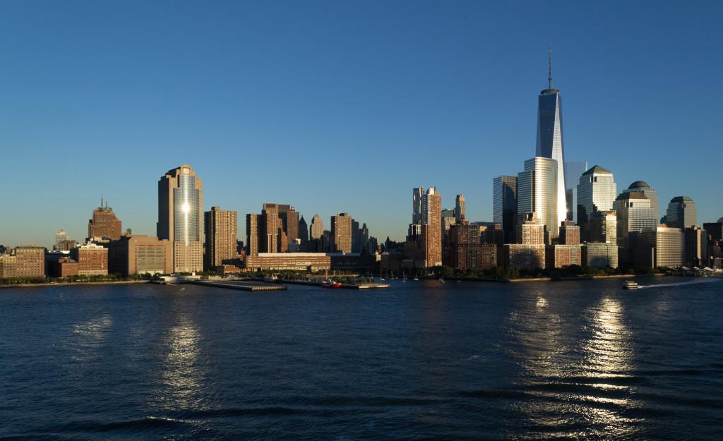 Sonneuntergang auf der Skyline von New York
