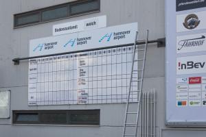 Neue Bult Langenhagen Rennbahn - Rennen Ergebnis Tafel