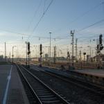 Abfahrt morgens früh in Mannheim Hauptbahnhof