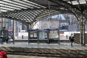 Ankunft in Köln Hauptbahnhof