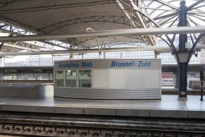 Ankunft in Brüssel Midi