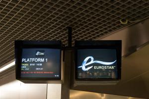 Mit dem Eurostar nach London - warten auf EST 9141