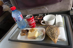 Essen im Eurostar - Käseplatte
