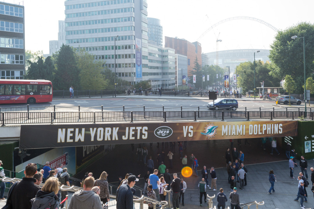 Wembley Park Station - NFL Spiel in London: New York Jets vs. Miami Dolphins