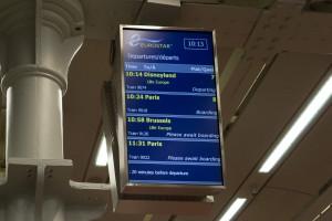 Abfahrtszeit des Eurostar nach Brüssel