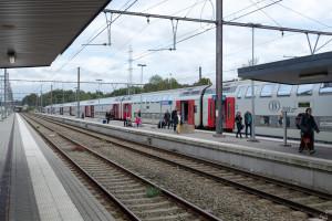 Welkenraedt - Doppelstockzug der Belgischen Bahn
