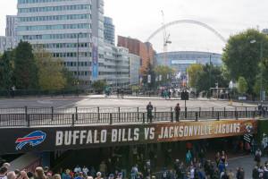 Sicht auf das Wembley Stadion: Buffalo Bills - Jacksonville Jaguars