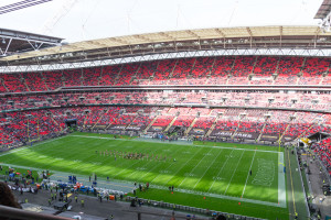 Leeres Wembley Stadion zur NFL International Series 2015