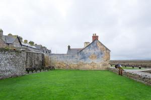 Gemälde auf Häuserwand in St. Michels Mount