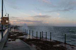 Cornwall Urlaub: Penzance - Das Wetter kommt über die Befestigung