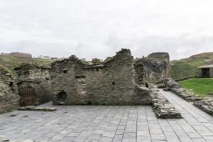 Reste von Tintagel Castle