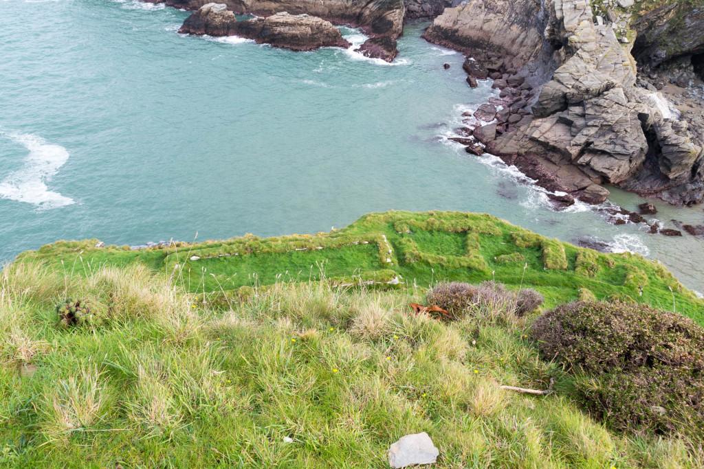 Erkennbare Reste von Tintagel Castle