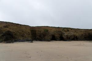 Die Steilküste von der Meeresseite aus