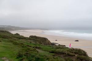 Strand von oben, jetzt stehe ich auf der Steilküste