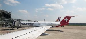 Drei Flieger neben einander - Lufthansa, Helvetic & Germanwings