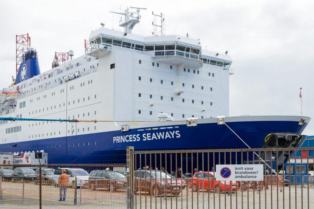 Princess Seaways vor der Abfahrt in Amsterdam