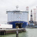 Beladung der Princess Seaways in Amsterdam