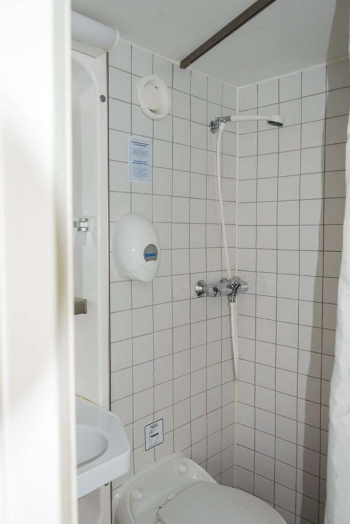 Dusche auf der DFDS Seaways Fußballreise - Hinfahrt