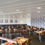 Das italienischen Restaurant auf der Princess Seaways vor dem Ansturm
